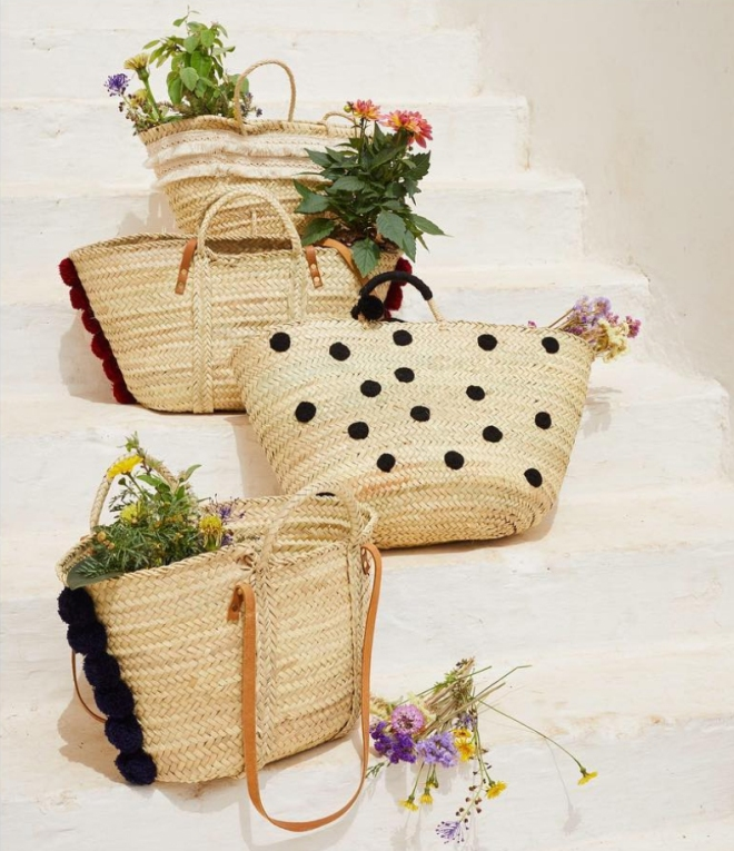 summer in baskets